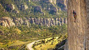 Ten Sleep Canyon, Wyoming Rock Climber