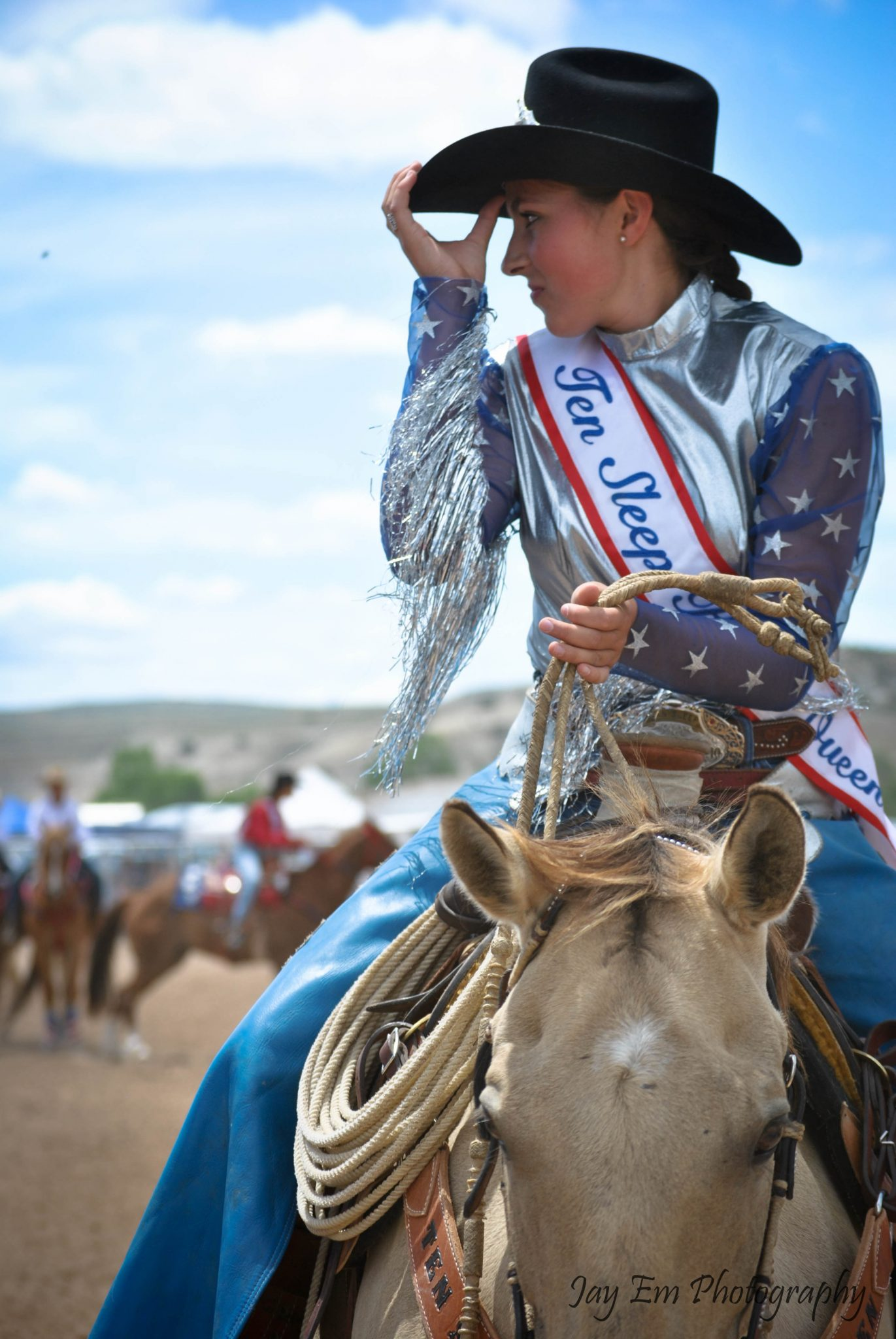 Rodeo Queen in Ten Sleep, Wyoming