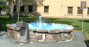 Worland, Wyoming's Artesian water fountain