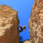 Ten Sleep Canyon, Wyoming rock climber