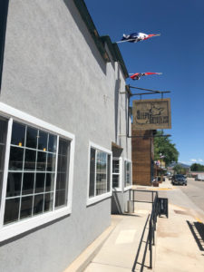 Exterior of the Sleepy Coyote Cafe on main street in Ten Sleep, Wyoming